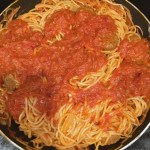 SHORT CUT ONE POT SPAGHETTI AND MEATBALLS