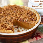 SWEET POTATO PIE WITH PECAN CRUNCH STREUSEL