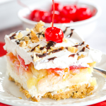 No Bake Banana Split Cake