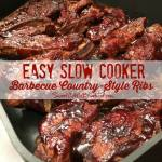 Easy Slow Cooker Barbecue Country Style Ribs