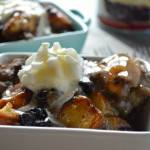 BLUEBERRY BREAD PUDDING WITH WHISKEY SAUCE