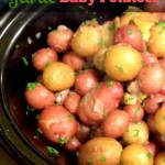 SLOW COOKER GARLIC BABY POTATOES
