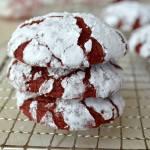 RED VELVET CREAM CHEESE CRINKLE COOKIES