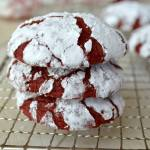 RED VELVET CREAM CHEESE CRINKLE COOKIES