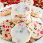 GLAZED CHERRY CHOCOLATE CHIP SHORTBREAD COOKIES