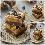 SALTED DARK CHOCOLATE PEANUT BUTTER FUDGE