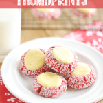 RED VELVET CREAM CHEESE THUMBPRINT COOKIES