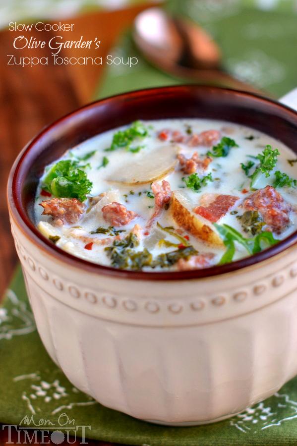 Slow cooker olive garden toscana soup copy cat recipe for Toscana soup olive garden calories