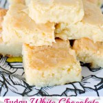 FUDGY WHITE CHOCOLATE BROWNIES