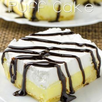 Vanilla Cream Puff Cake