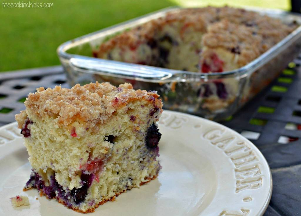 Cinnamon Streusel Blueberry Cake - Maria's Mixing Bowl