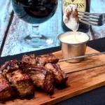 Guiness Steak Skewers with Smoked Gouda Dipping Sauce