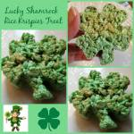 Lucky Shamrock Rice Krispies Treat