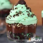 Chocolate Mint Oreo Cookie Trifle