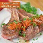 Lamb Chops with Romesco Sauce
