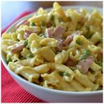 One Pot Cheesy Ham and Pea Campanelle