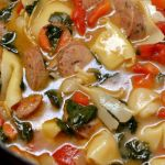Cheese Tortellini Chicken Sausage Soup