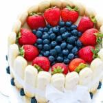 Strawberry And White Chocolate Charlotte Cake