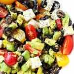 Olives & Avocado Salad with Tomato & Feta