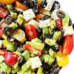 Olives & Avocado Salad with Tomato & Feta