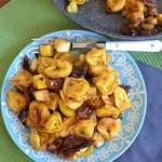 Pan Fried Crispy Tortellini and Zucchini