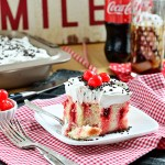 Cherry Vanilla Coca-Cola Poke Cake