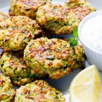 Oven Baked Zucchini and Feta Fritters