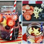 Red, White & Blue Vitamin Fruit Infused Vitamin Water