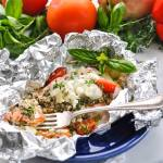 5-Ingredient Mediterranean Salmon in Foil Packets