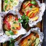 Chicken and Rice Fajitasin Foil