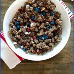 Milk Chocolate Covered Patriotic Popcorn
