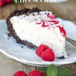 No Bake White Chocolate Raspberry Cheesecake