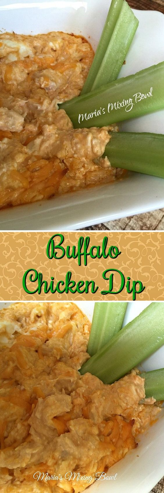 Buffalo Chicken Dip - tastes just like the buffalo chicken we love to eat but in a dip form. This creamy Buffalo Chicken Dip comes together easily and is always a big hit!