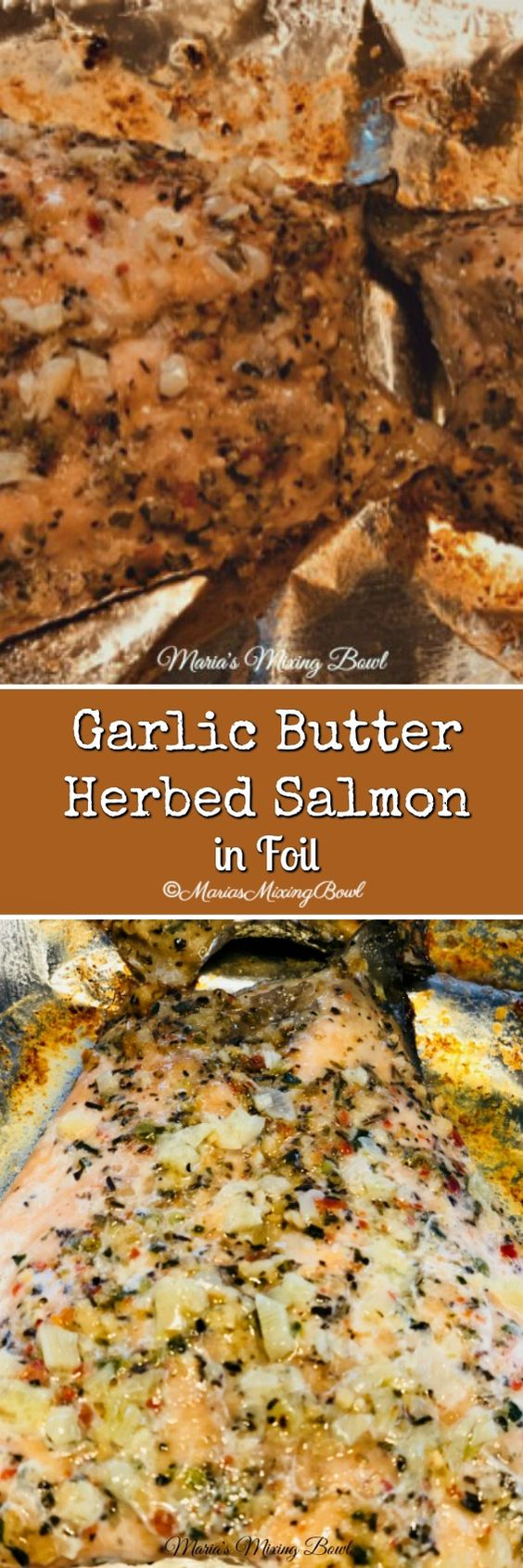 Garlic Butter Herbed Salmon in Foil is a super easy weeknight recipe. So simple but elegant enough to serve to company. Ready is less than 25 minutes and delicious served with some simple jasmine rice and roasted vegetables.