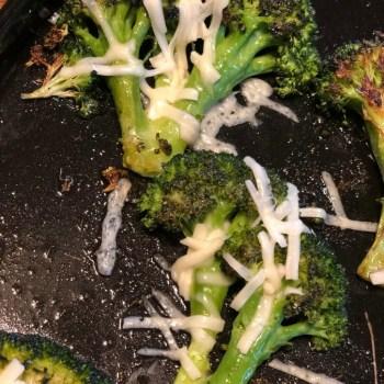 Cheesy Oven Roasted Broccoli