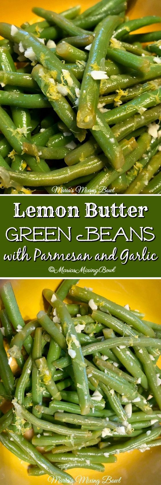 Lemon Butter Green Beans with Parmesan and Garlic are so amazing. I can't say enough about garlic and lemon. They add so much to the simplest things. Like these green beans!