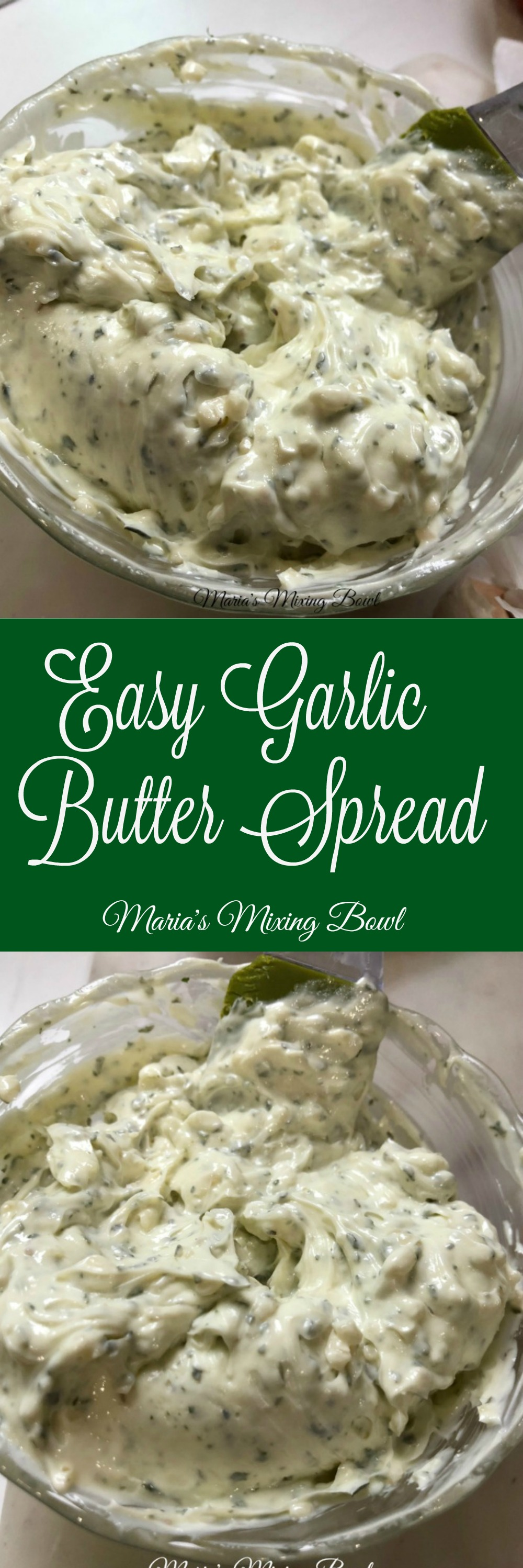 Easy Garlic Butter Spread Recipe - Easily transform butter into garlic butter with this super easy recipe. So much better than store bought!