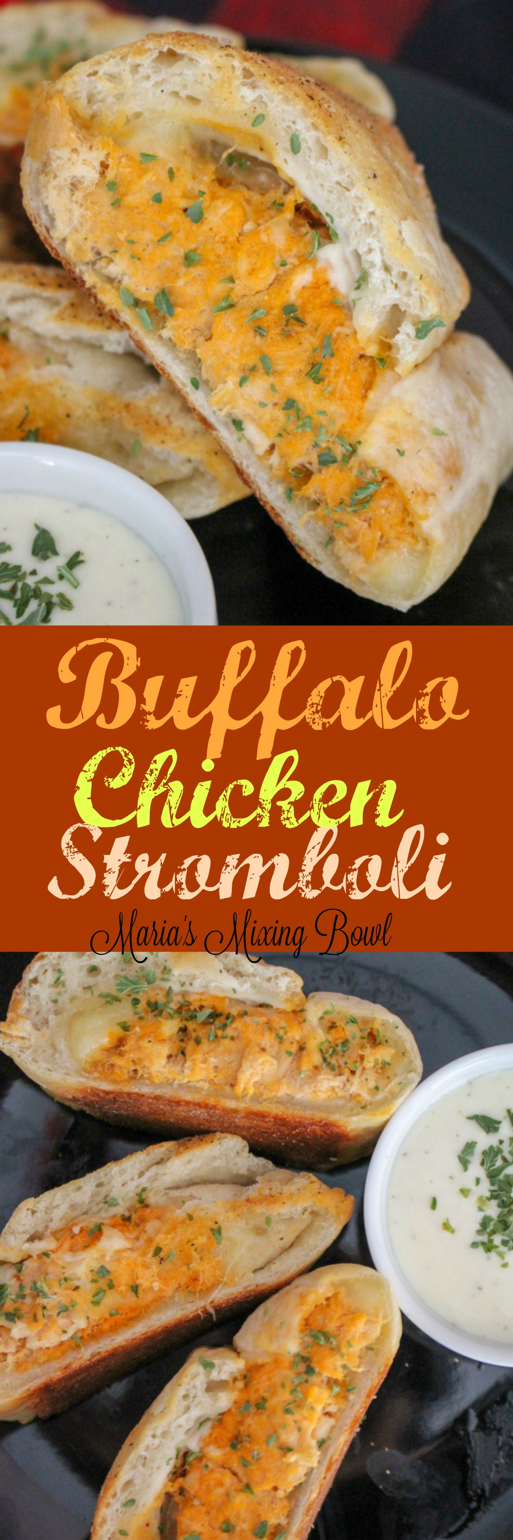 Buffalo Chicken Stromboli -If you love Buffalo wings then you have to try these incredibly easy  stromboli made with rotisserie chicken. Serve this as an effortless and quick weeknight meal or as a tasty gameday snack!