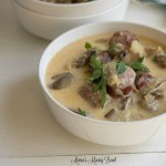 Instant Pot Kielbasa Mushroom and Potato Soup