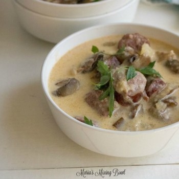 Instant Pot Kielbasa Mushroom and Potato Soup
