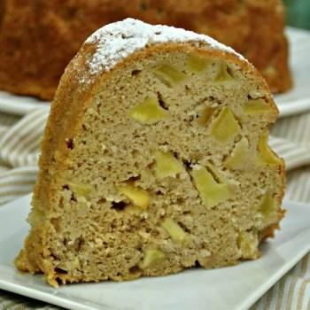 Lightened Up Autumn Apple Cake