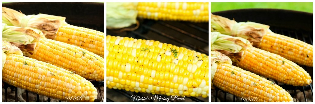 corn with grilled cilantro butter