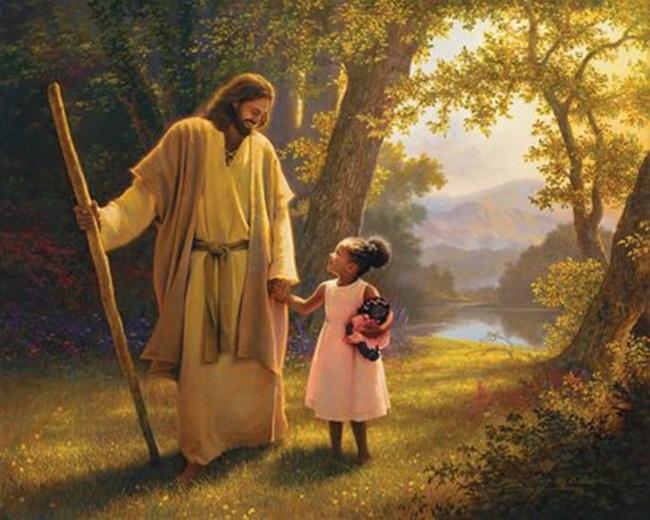 Jesus y niña-1