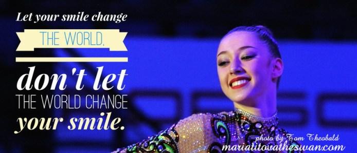 Maria Titova the Swan-FB banner-Let your smile change the world Don't let the world change your smile