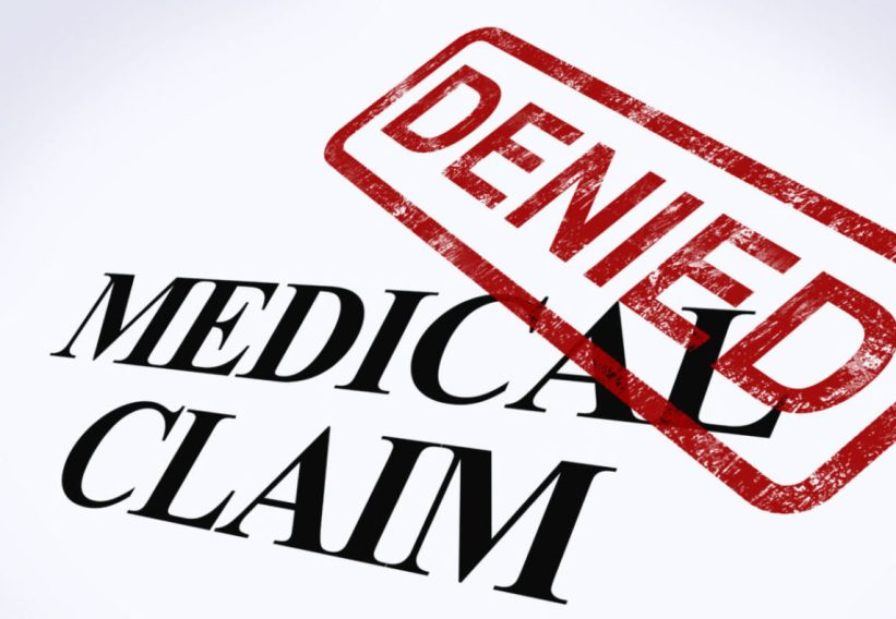 image of Medical Claim Denied Stamp