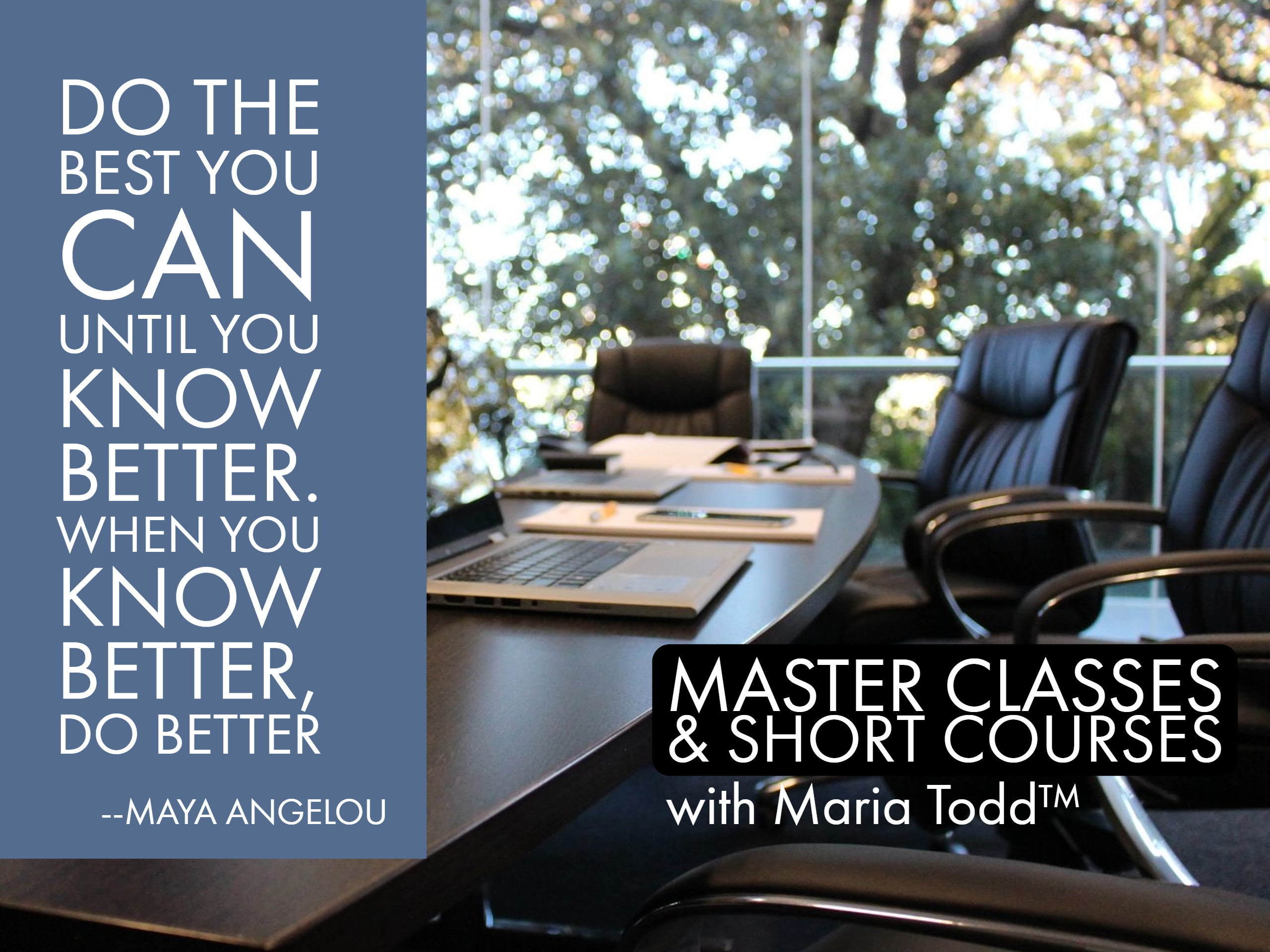 masterclasses and short courses with maria todd on managed care and medical tourism