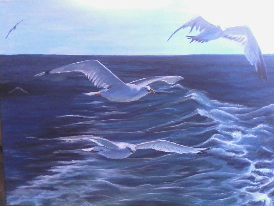 Αποτέλεσμα εικόνας για πινακες ζωγραφικης γλάρων σαίτιες