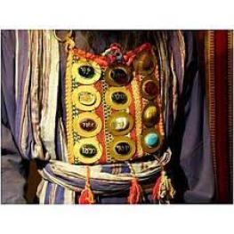 borstplaat Hogeprister met 12 edelstenen