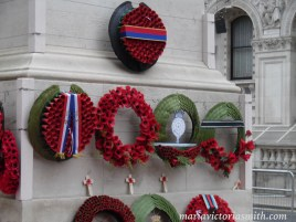 Wreaths from The Queen, The Dutch King and other dignitaries London 2015