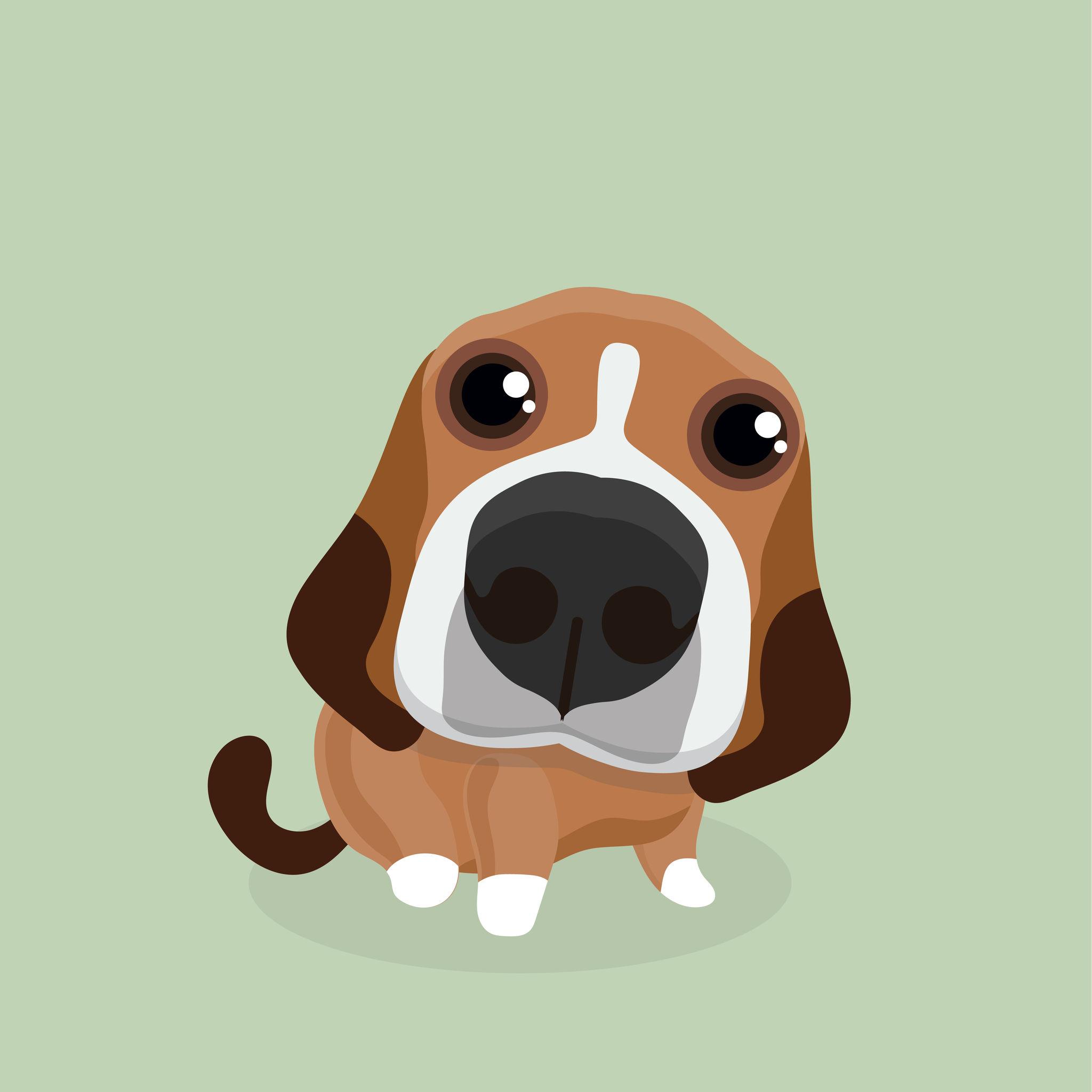 83755511 – cartoon happy beagle dog.